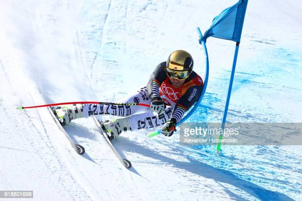 Josef Ferstl of Germany competes during the Men's SuperG on day seven of the PyeongChang 2018 Winter Olympic Games at Jeongseon Alpine Centre on...