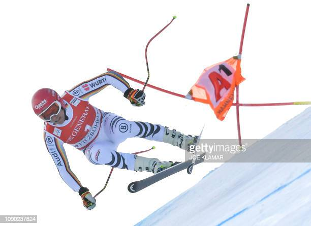 Josef Ferstl of Germany competes in the men's Super G event of the FIS Alpine Ski World Cup in Kitzbuehel Austria on January 27 2019