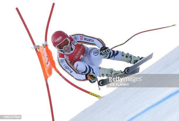 Josef Ferstl of Germany competes in the men's Super G event of the FIS Alpine Ski World Cup in Kitzbuehel, Austria, on January 27, 2019.