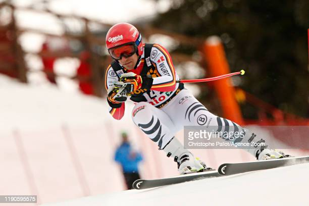 Josef Ferstl of Germany in action during the Audi FIS Alpine Ski World Cup Men's Downhill on December 27, 2019 in Bormio Italy.