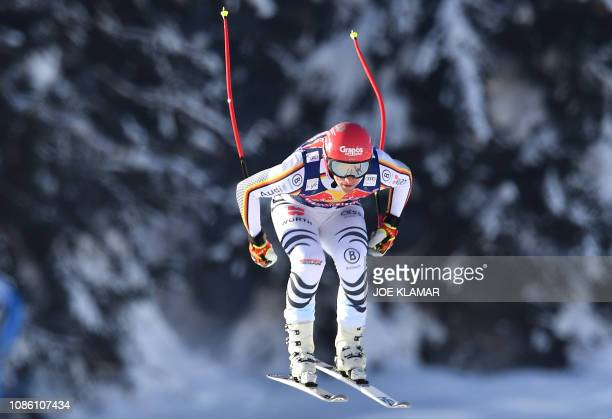 Josef Ferstl of Germany skis during the first downhill training during the FIS Alpine World Cup in Kitzbuehel Austria on January 22 2019