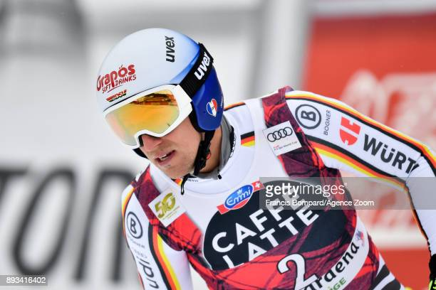 Josef Ferstl of Germany takes 1st place during the Audi FIS Alpine Ski World Cup Men's Super G on December 15 2017 in Val Gardena Italy