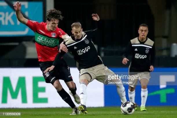Josef Kvida of NEC Nijmegen, Vaclav Cerny of Ajax U23 during the Dutch Keuken Kampioen Divisie match between NEC Nijmegen v Ajax U23 at the Goffert...