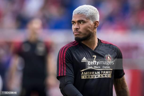 Josef Martinez of Atlanta United during warm ups of the MLS match between Atlanta United FC and New York Red Bulls at Red Bull Arena on May 19 2019...