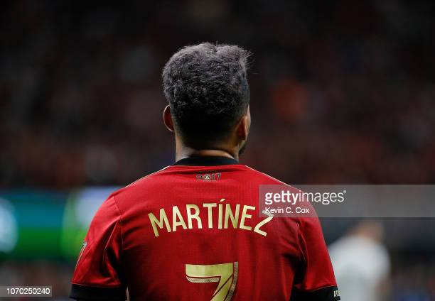Josef Martinez of Atlanta United look on against the Portland Timbers during the 2018 MLS Cup between Atlanta United and the Portland Timbers at...