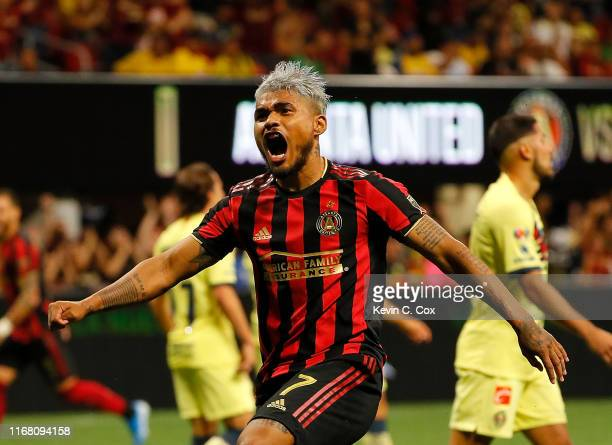 Josef Martinez of Atlanta United reacts after Jeff Larentowicz scored the second goal against Club America during the final of the Campeones Cup...