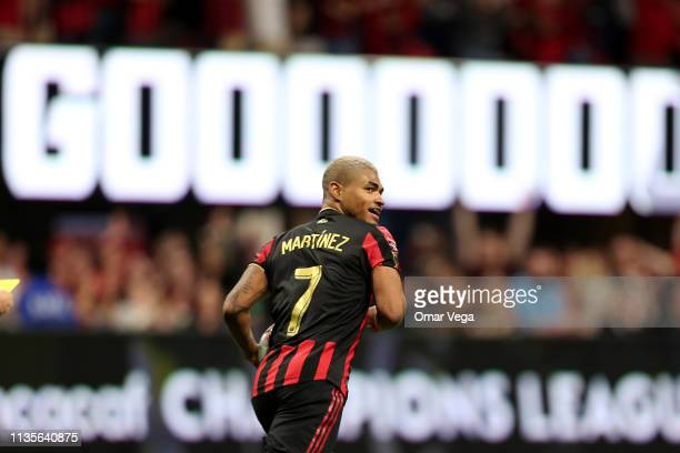 Josef Martinez of Atlanta United scores the 1st goal during the match between Atlanta United and Monterrey as part of the CONCACAF Champions League...