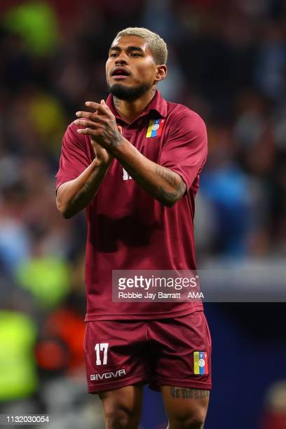 Josef Martinez of Venezuela during the International Friendly match between Argentina and Venezuela at Estadio Wanda Metropolitano on March 22 2019...