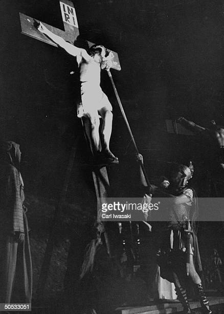 Josef Meier playing Christ in Passion Play