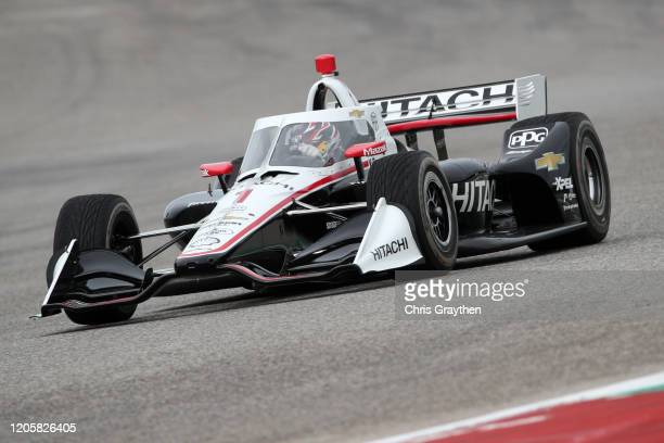 Josef Newgarden, driver of the Team Penske Chevrolet, drives during NTT IndyCar Series testing at Circuit of The Americas on February 12, 2020 in...