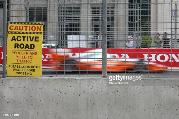 TORONTO ON JULY 16 Josef Newgarden in the number 2 car wins the 2017 Honda Indy during the Honda Indy which is part Verizon IndyCar Series at the...