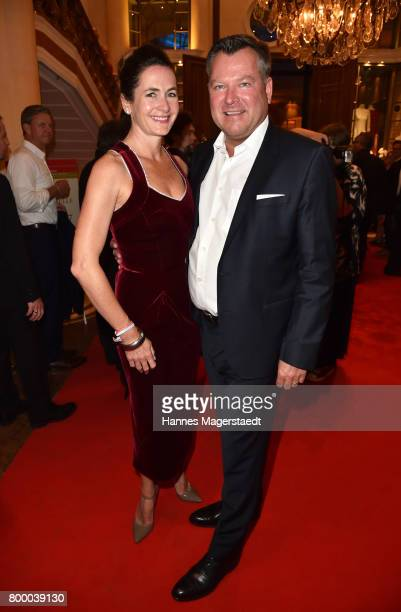 Josef Schmid and his wife Natalie Schmid during the opening night of the Munich Film Festival 2017 at Bayerischer Hof on June 22 2017 in Munich...