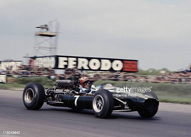 Josef Siffert drives the Rob Walker Racing CooperMaserati T81 Maserati 30 V12 during the XVIII BRDC International Trophy Race on 14th May 1966 at the...