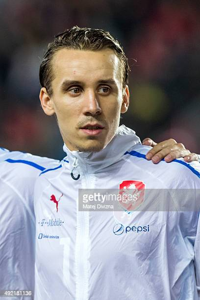 Josef Sural of Czech Republic is seen before the UEFA EURO 2016 Group A Qualifier match between Czech Republic and Turkey at Letna Stadium on October...