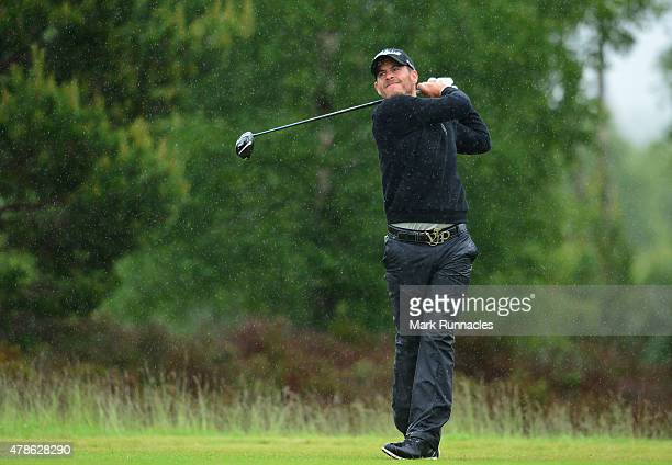 JoseFilipe Lima of Portugal in action on the 13th hole during the second round of the 2015 SSE Scottish Hydro Challenge at the MacDonald Spey Valley...