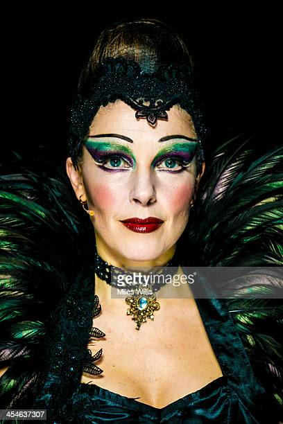 Josefina Gabriella playing 'Evil Witch' poses for a portrait during the Puss in Boots pantomime at the Hackney Empire on December 6 2013 in London...