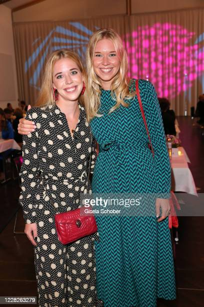 Josefina Vilsmaier and her sister Janina Vilsmaier during the festival night and award ceremony of the 8th Kitzbuehel Film Festival at K3 Congress...