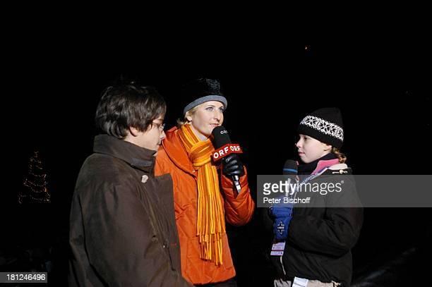 """Josefina Vilsmaier , Francois Göske , ORF-Reporterin, Uraufführung vom Kinofilm: """"Bergkristall"""", Premiere, Bludenz-Nuziders/Vorarlberg/; sterreich, ,..."""