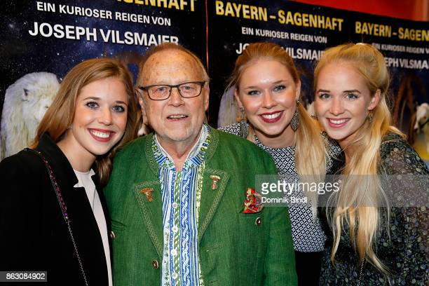 Josefina Vilsmaier Joseph Vilsmaier Janina Vilsmaier and Theresa Vilsmaier attend the 'Bayern sagenhaft' Premiere at Filmtheater Sendlinger Tor on...