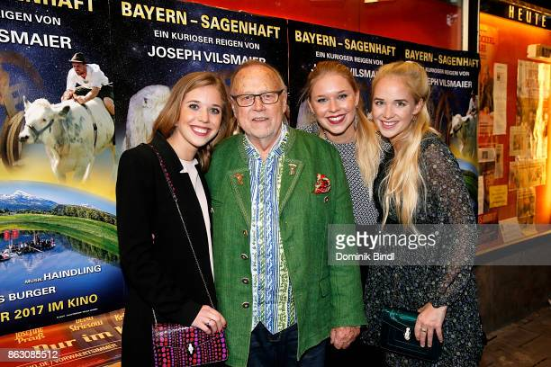 Josefina Vilsmaier, Joseph Vilsmaier, Janina Vilsmaier and Theresa Vilsmaier attend the 'Bayern - sagenhaft' Premiere at Filmtheater Sendlinger Tor...