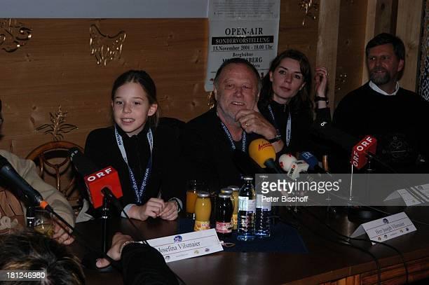 Josefina Vilsmaier Vater Joseph Vilsmaier Ehefrau Dana Vavrova Uraufführung vom Kinofilm Bergkristall Premiere BludenzNuziders/Vorarlberg/ sterreich...