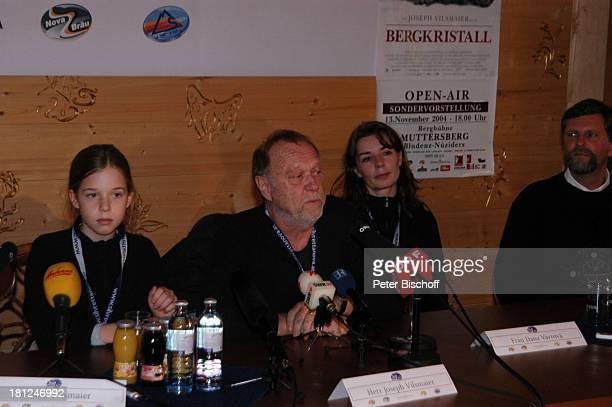Josefina Vilsmaier Vater Joseph Vilsmaier Ehefrau Dana Vavrova Bürgermeister von Prudenz Uraufführung vom Kinofilm Bergkristall Premiere...
