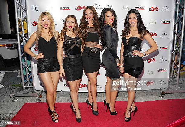 Josefine Ochoa Aly Villegas Aleyda Ortiz Nabila Tapia and Alina Robert arrive at the Jencarlos Canela private concert to present his new album Jen at...