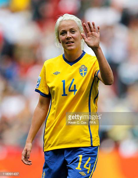 Josefine Oqvist of Sweden during the FIFA Women's World Cup 2011 Group C match between North Korea and Sweden at FIFA World Cup Stadium Augsburg on...