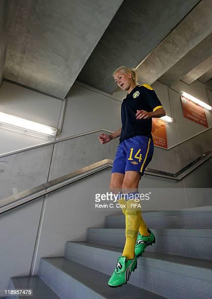 Josefine Oqvist of Sweden during the FIFA Women's World Cup 2011 Quarter Final match between Sweden and Australia at FIFA World Stadium Augsburg on...