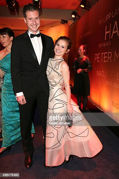 Josefine Preuss and her boyfriend during the Bambi Awards 2015 at Stage Theater on November 12 2015 in Berlin Germany