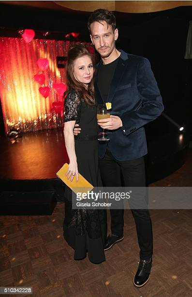 Josefine Preuss and Vladimir Burlakov during the 'Drunk In Love' Party hosted by Constantin Film and zLabels on February 14 2016 in Berlin Germany