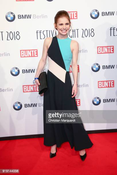 Josefine Preuss attends the BUNTE BMW Festival Night on the occasion of the 68th Berlinale International Film Festival Berlin at Restaurant...