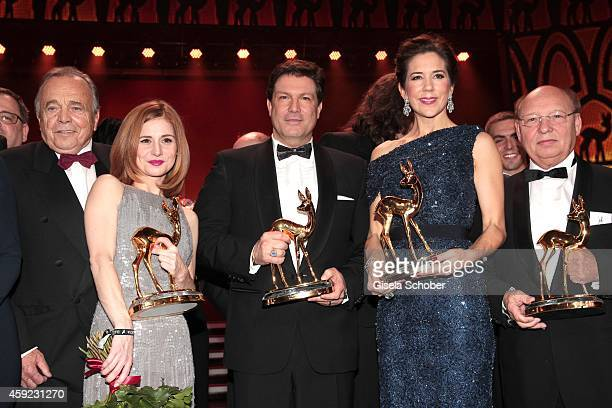 Josefine Preuss Francis Fulton Smith Crown Princess Mary Elisabeth of Denmark HansJoachim Heist during the Bambi Awards 2014 show on November 13 2014...