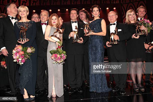 Josefine Preuss Francis Fulton Smith Crown Princess Mary of Denmark Nora Weisbrod during the Bambi Awards 2014 show on November 13 2014 in Berlin...
