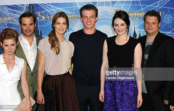 Josefine Preuss Johannes von Matuschka Laura Berlin Jannis Niewoehner Maria Ehrich and Felix Fuchssteiner attend the Munich premiere of the film...