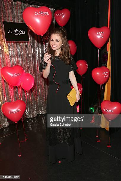 Josefine Preuss wearing a dress by mintberry during the 'Drunk In Love' Party hosted by Constantin Film and zLabels on February 14 2016 in Berlin...