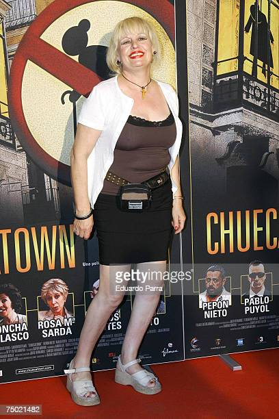 Josele Roman attends the Chuecatown premiere at the Callao Cinema in Madrid Spain on July 3 2007