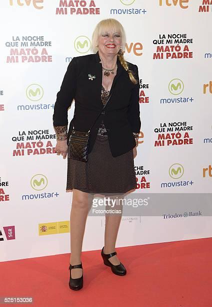 Josele Roman attends the 'La Noche Que Mi Madre Mato a Mi Padre' premiere at Palacio de la Prensa Cinema on April 27 2016 in Madrid Spain