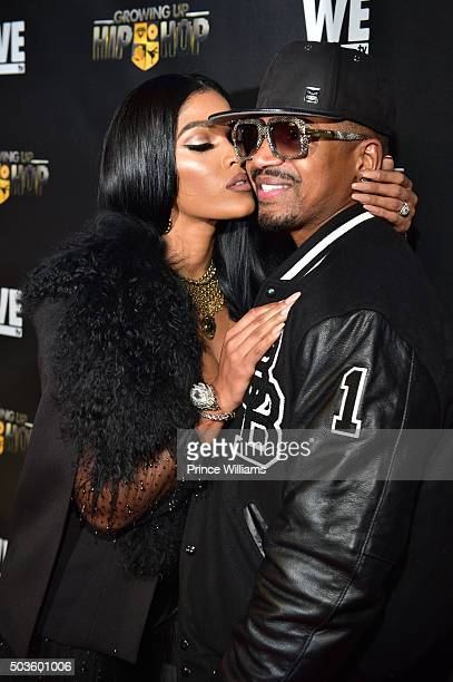 """Joseline Hernandez and Stevie J attend the ATL Premiere of WE Tv's """"Growing Up Hip Hop"""">> at SCADshow on January 5, 2016 in Atlanta, Georgia."""