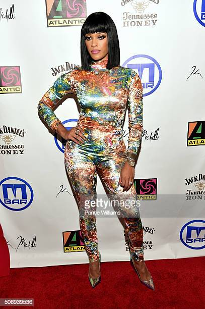 Joseline Hernandez attends K Michelle My Life Season 2 Viewing Event at M Bar on January 25 2016 in Atlanta Georgia