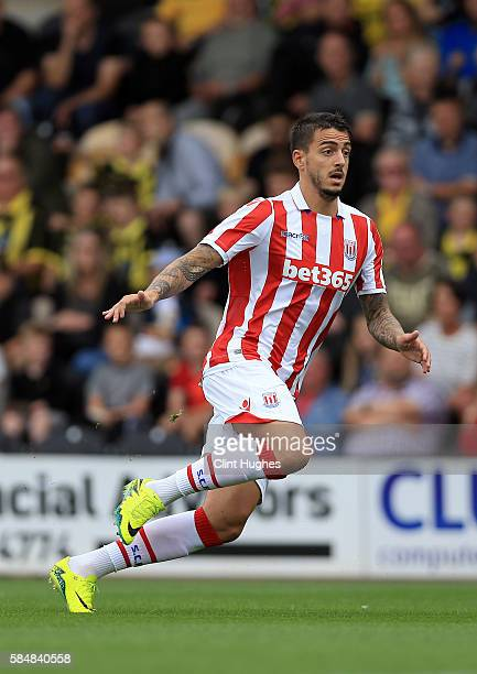 Joselu Mato of Stoke City during the Pre Season Friendly match between Burton Albion and Stoke City at the Pirelli Stadium on July 16 2016 in Burton...