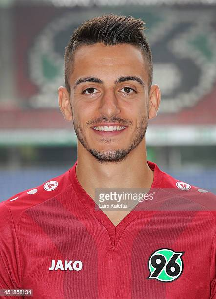 Joselu poses during the team presentation at HDIArena on July 8 2014 in Hanover Germany