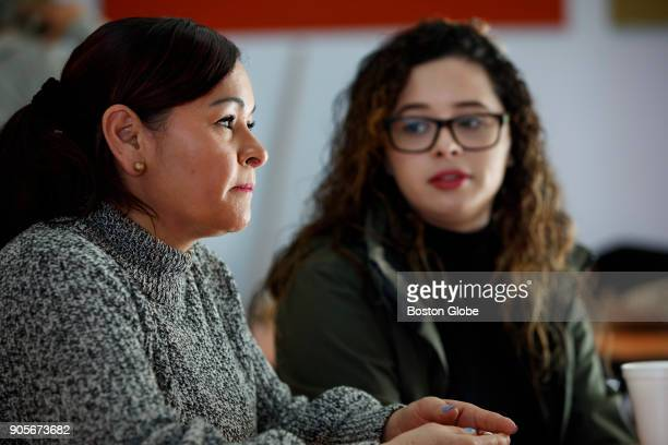 Joselyn Portillo a United States citizen and her mother Blanca Portillo a refugee from El Salvador who is currently under TPS attend a legal clinic...