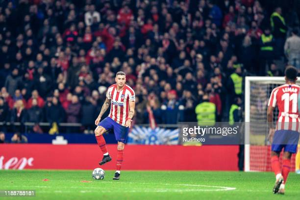 Josema Gimenez during La Liga match between Club Atletico de Madrid and CA Osasuna at Wanda Metropolitano on December 14, 2019 in Madrid, Spain .