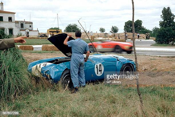 JoseMaria Ibanez's damaged Ferrari 375 at the 1954 1000km of Buenos Aires