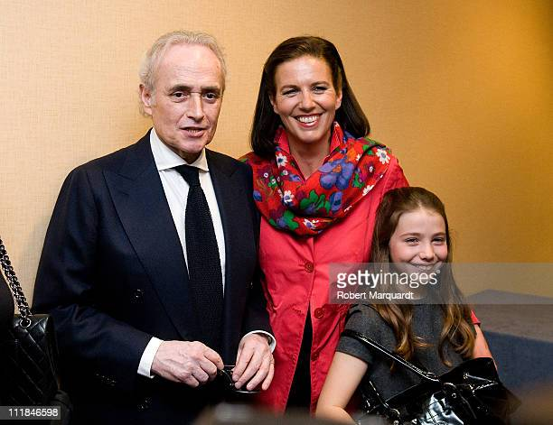 Josep Carreras and Jutta Jager attend the 'Moda Solidaria' at the Gran Hotel Princesa Sofia on April 7 2011 in Barcelona Spain