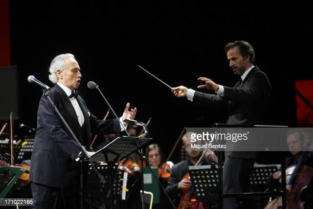 Josep Carreras performs at the 'Jardins de Pedralbes Festival' on June 20 2013 in Barcelona Spain