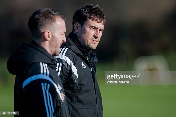 Josep Clotet Ruiz during the Swansea City Training Session on January 21 2015 in Swansea Wales