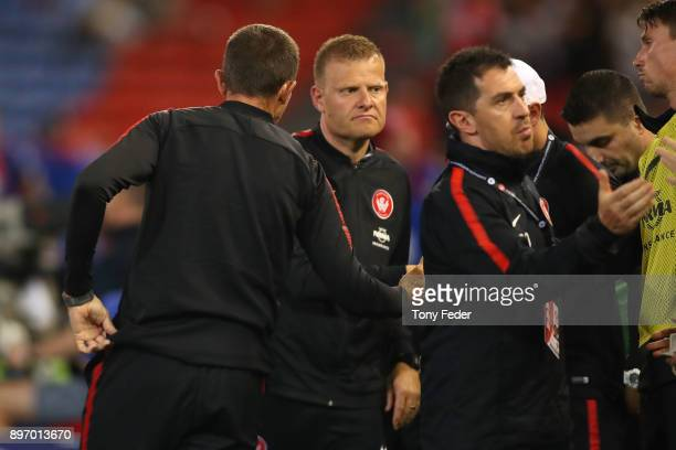 Josep Gombau of the Wanderers after losing to the Jets during the round 12 ALeague match between the Newcastle Jets and the Western Sydney Wanderers...