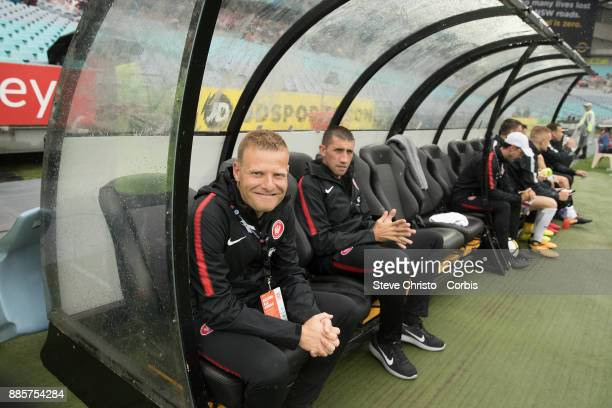 Josep Gombau of the Wanderers waits undercover for his team to run out during the round nine ALeague match between the Western Sydney Wanderers and...